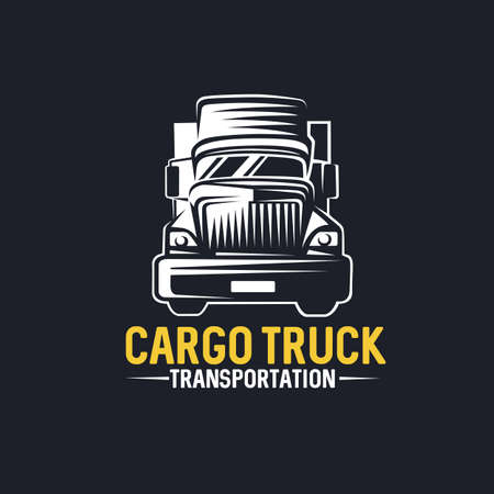 Truck Logo, cargo, delivery, logistic. Vector illustration.