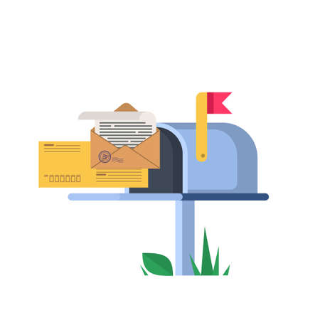 Illustration of the mailbox. 向量圖像