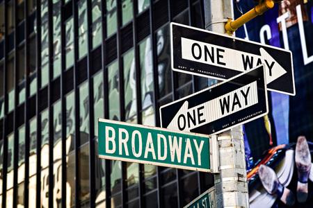 ストリートは、ニューヨークのブロードウェイで署名します。