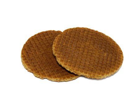 Treacle waffles on an isolated background