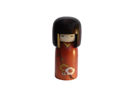 Handmade, wooden, kokeshi doll made in japan photo