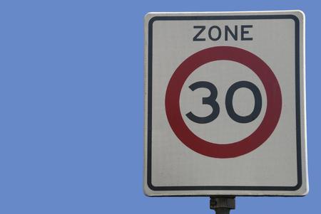 Dutch traffic sign, speed limit 30 kmhour Stock Photo