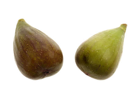 Two Figs on a white isolated background