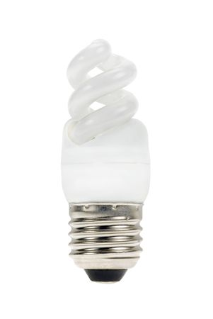 Lamp to save some energy isolated on a white background