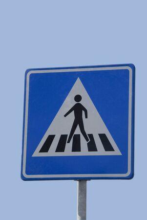 Dutch traffic sign, zebra for walker Stock Photo