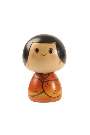 Handmade, wooden, kokeshi doll made in japan Stock Photo - 3112030