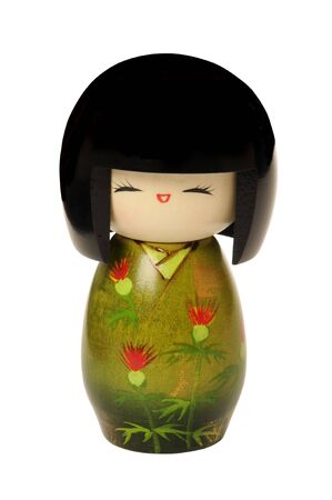 Wooden, kokeshi doll made in japan, touristic Souvenir