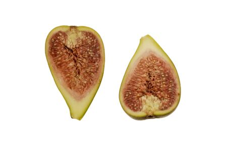 Fig, cut open in two parts