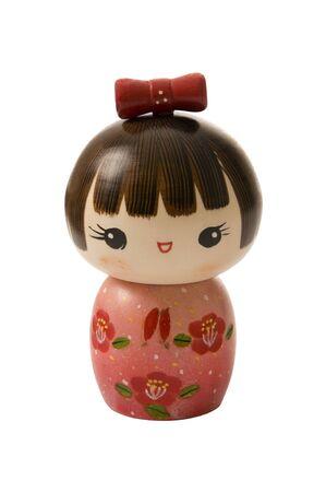 Handmade, wooden, kokeshi doll made in japan
