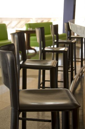 Chairs at the bar with shallow dof