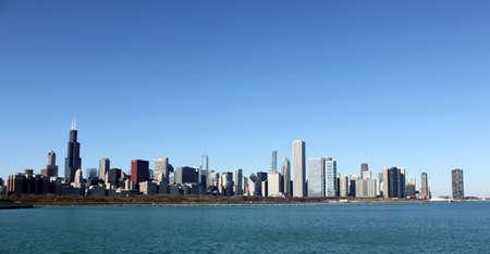 windy city: Ciudad ventosa de Chicago de Am�rica Foto de archivo