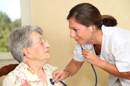 homecare: Elderly person with nurse