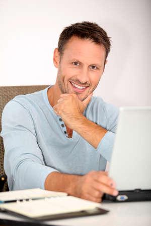 Closeup of man working at home Stock Photo - 7577585