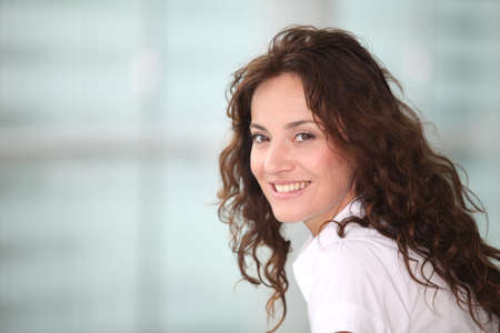 banker: Portrait of smiling businesswoman Stock Photo
