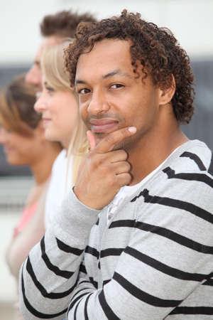 metis: Closeup of young metis man