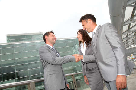 Business people shaking hands Stock Photo - 7697113
