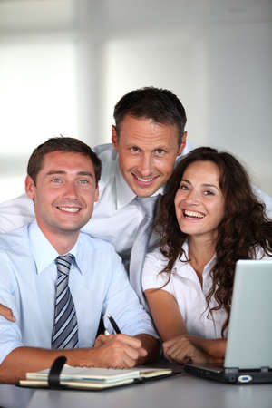 sales bank: Business people in a work meeting in the office