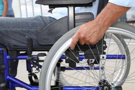autonomia: Detalle de la silla de ruedas