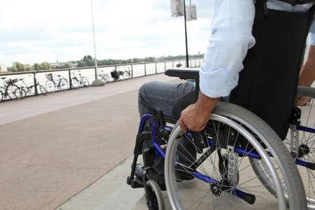 wheelchair: Closeup of wheelchair Stock Photo