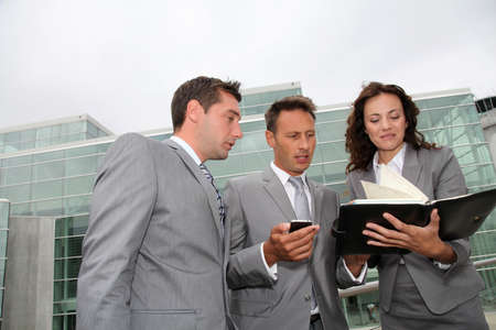 partners: Business people in a business meeting away from the office Stock Photo