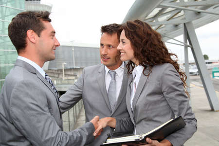 Business people in a business meeting away from the office Stock Photo - 7700315