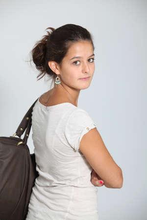 teenaged girl: Closeup of teenaged girl