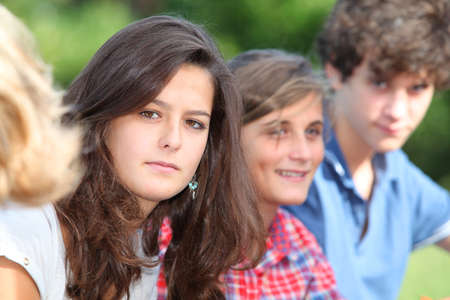 Teenagers after school photo