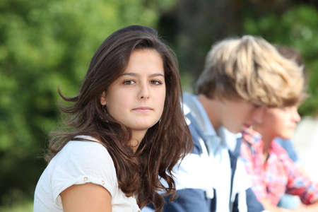 teenagers group: Teenagers after school