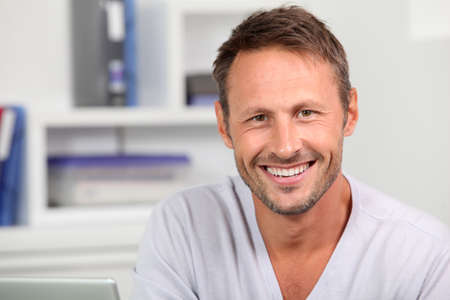 40 years old man: Portrait of handsome man Stock Photo