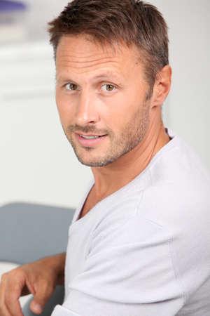 Portrait de bel homme Banque d'images - 7954642