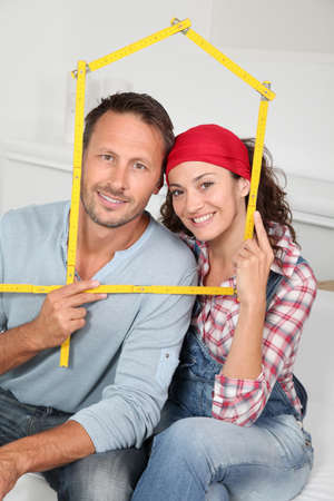 Closeup of couple buying a new house Stock Photo - 7954859