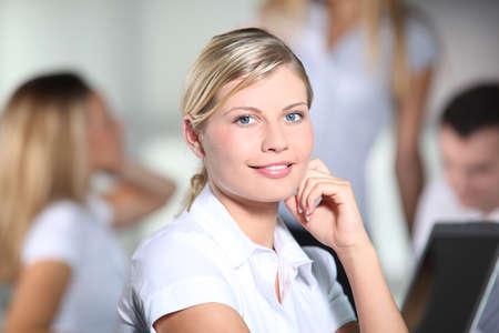 Beautiful businesswoman at work Stock Photo - 8079447