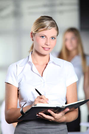 Beautiful businesswoman at work Stock Photo - 8079452