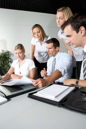 Group of business people meeting in the office Stock Photo - 8087434