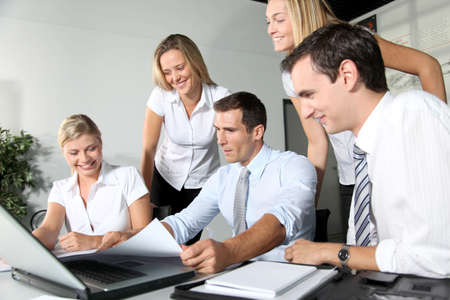 Group of business people meeting in the office Stock Photo - 8087355