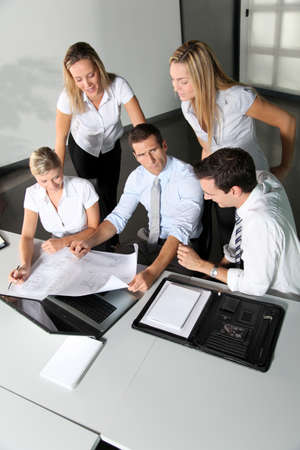Group of business people meeting in the office Stock Photo - 8087445