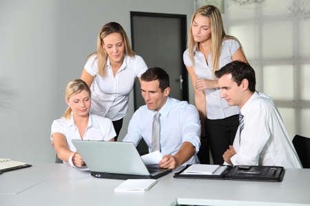 Group of business people meeting in the office Stock Photo - 8087361