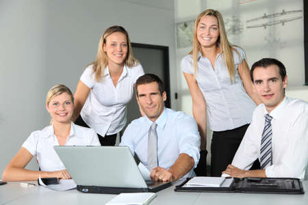 Group of business people meeting in the office Stock Photo - 8087443