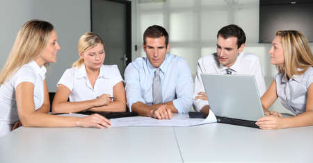 Group of business people meeting in the office Stock Photo - 8087134