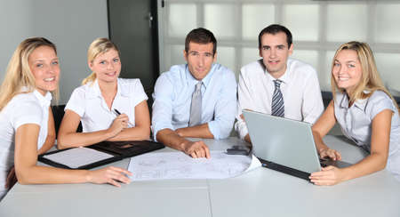 Group of business people meeting in the office Stock Photo - 8087144
