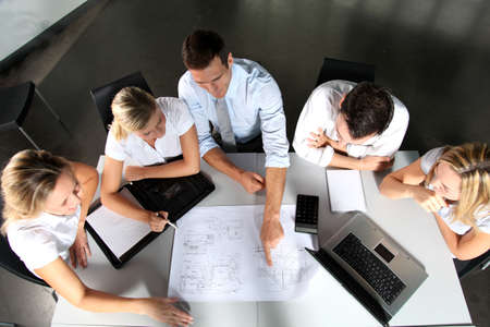 project property: Group of business people meeting in the office