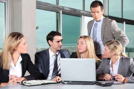 Group of business people meeting in the office Stock Photo - 8087512