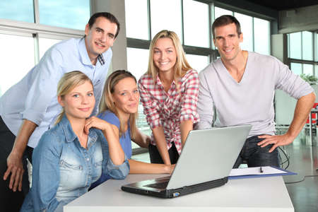 Group of people working in the office Stock Photo - 8087594