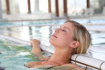 thalasso: Closeup of beautiful woman in spa center