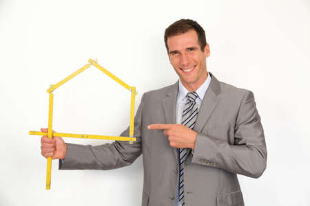 promoting: Real estate agent promoting house