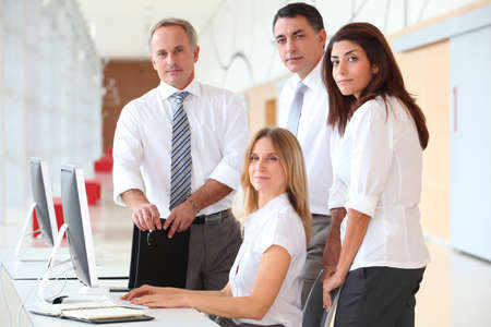 Business training in modern offices Stock Photo - 8258550