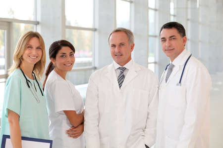 medical career: Portrait of smiling medical team