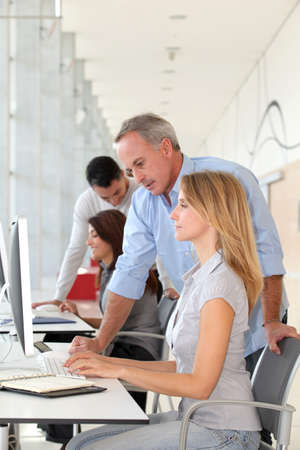 traineeship: Group of people in business training Stock Photo