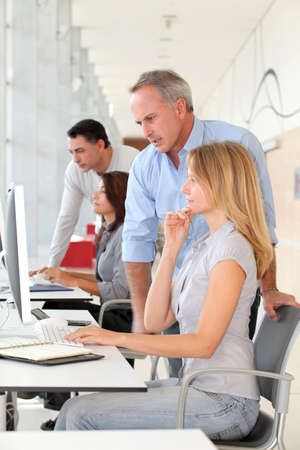 Group of people in business training Stock Photo - 8258491