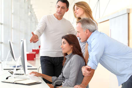 Group of people in business training Stock Photo - 8258505